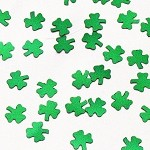 Green Metallic Shamrock Confetti - 3/8""