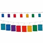 Rainbow Paper Lantern Garland (7 colors)