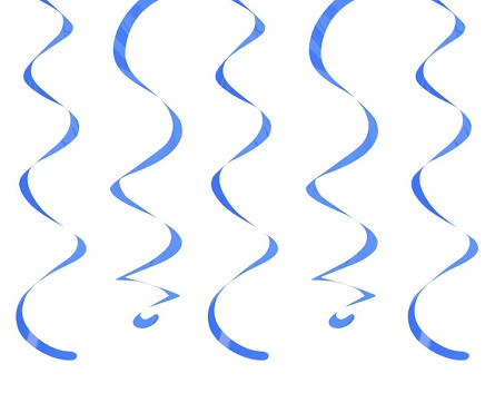 "18"" True Blue Dizzy Danglers Hanging Ceiling Swirls (10)"