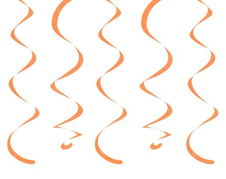 "18"" Sunkissed Orange Dizzy Danglers Hanging Ceiling Swirls (10)"