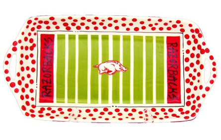 "16"" x 8"" University of Arkansas Ceramic Stadium Platter"