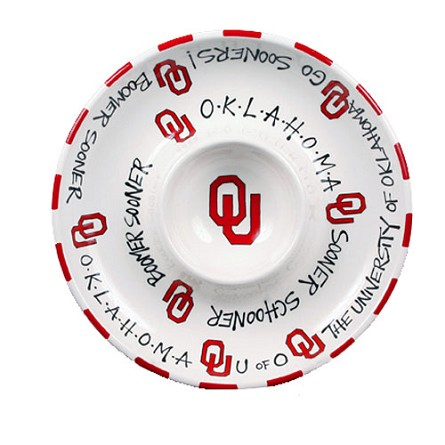 "12"" University of Oklahoma Ceramic Circle Chip & Dip"