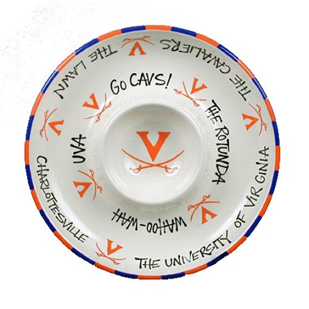 "12"" University of Virginia Ceramic Circle Chip & Dip"