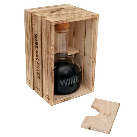 Wine decanter in wood crate unique food wine theme for Small wine crates