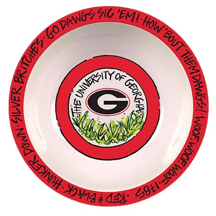 "12"" University of Georgia Melamine Serving Bowl"