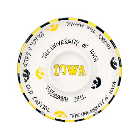 "12"" University of Iowa Ceramic Circle Chip & Dip"