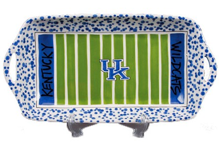 "16"" x 8"" University of Kentucky Ceramic Stadium Platter"