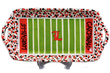 "16"" x 8"" University of Louisville Ceramic Stadium Platter"