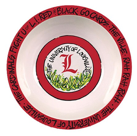 "12"" University of Louisville Melamine Serving Bowl"