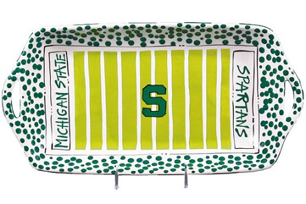 "16"" x 8"" Michigan State University Ceramic Stadium Platter"