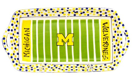 "16"" x 8"" University of Michigan Ceramic Stadium Platter"