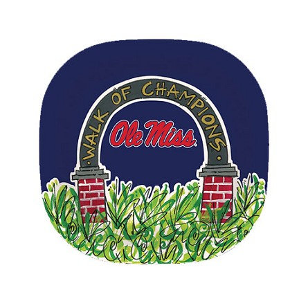 "10"" University of Mississippi Melamine Plate"