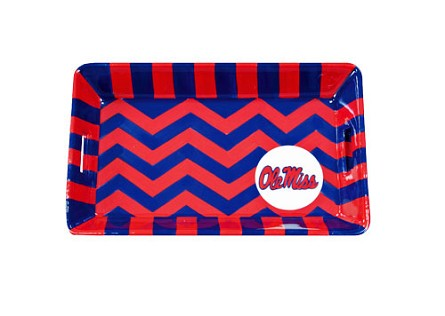 "8.5"" x 5.25"" University of Mississippi Ceramic Mini Tray"