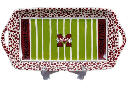 "16"" x 8"" Mississippi State University Ceramic Stadium Platter"