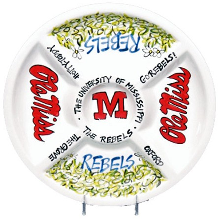 "14.5"" University of Mississippi Ceramic Veggie Platter"