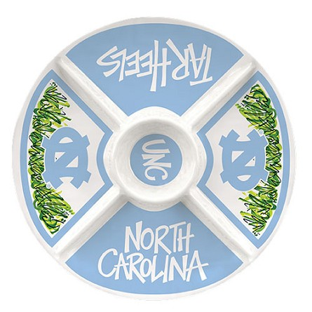 "15"" University of North Carolina Melamine Veggie Platter"