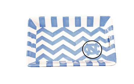 "8.5"" x 5.25"" University of North Carolina Ceramic Mini Tray"
