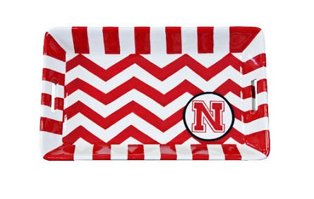 "8.5"" x 5.25"" University of Nebraska Ceramic Mini Tray"