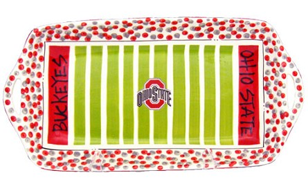 "16"" x 8"" Ohio State University Ceramic Stadium Platter"