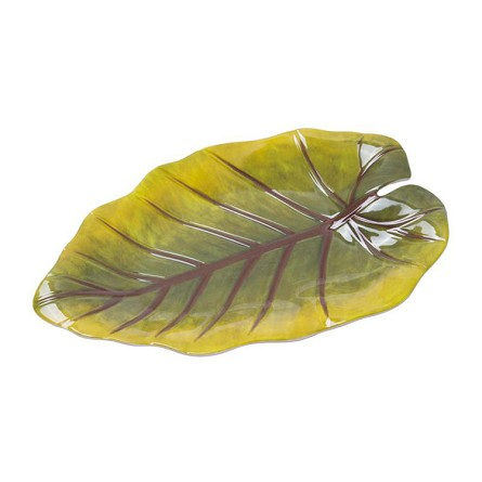 "9.75"" Tropical Leaf Melamine Plate"