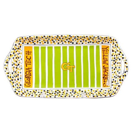 "16"" x 8"" Georgia Tech Ceramic Stadium Platter"