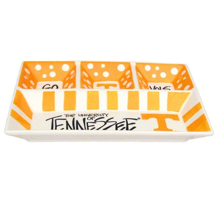 "13"" x 10"" University of Tennessee 4-Section Ceramic Platter"