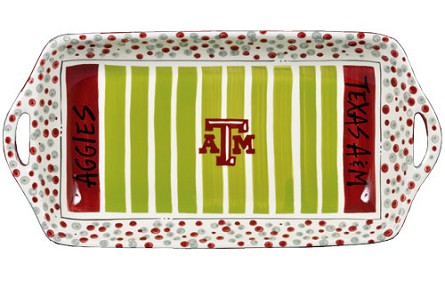 "16"" x 8"" Texas A&M University Ceramic Stadium Platter"