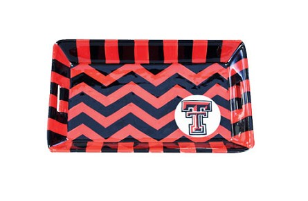 "8.5"" x 5.25"" Texas Tech University Ceramic Mini Tray"