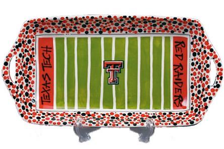 "16"" x 8"" Texas Tech University Ceramic Stadium Platter"