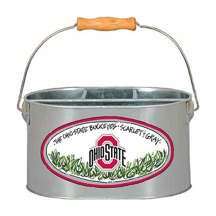 "9.5"" x 7"" Ohio State University Metal Utensil Holder"