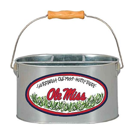 "9.5"" x 7"" University of Mississippi Metal Utensil Holder"