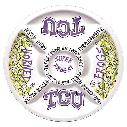 "14.5"" Texas Christian University Ceramic Veggie Platter"