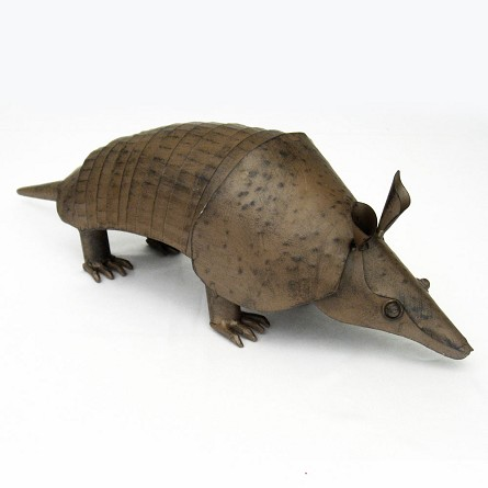 "24"" Lifesize Metal Armadillo Centerpiece"