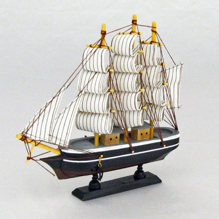 "9.5"" x 9"" 3-Mast Mounted Wood Clipper Ship - 6 styles"