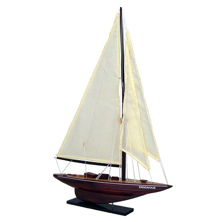 "25"" Mounted Wood Sailing Ship ""Endeavour"""