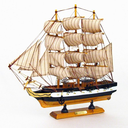 "12"" USS Constitution Warship Mounted Replica"