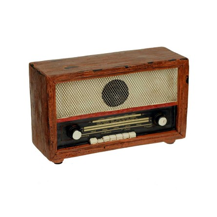 "7"" Vintage-Style French Radio Centerpiece"