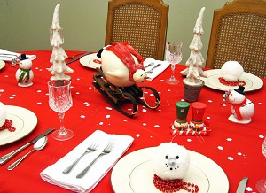 Snowman Dinner Party Centerpiece
