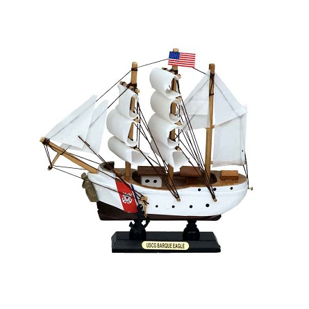 "6"" US Coast Guard Eagle Mini Clipper Sailing Ship"