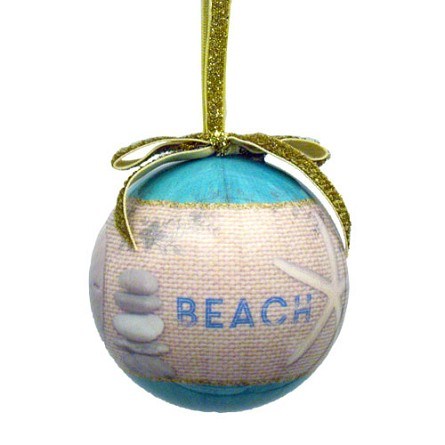 "3"" BEACH Home Coastal Christmas Ball Ornament"
