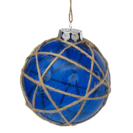 "4"" Japanese Vintage-Style Glass Buoy Float Ornament - 3 colors"