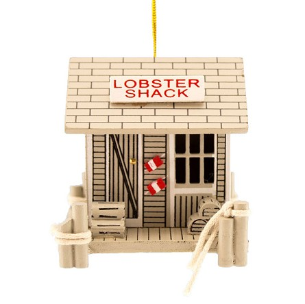 LOBSTER SHACK Coastal Christmas Tree Ornament