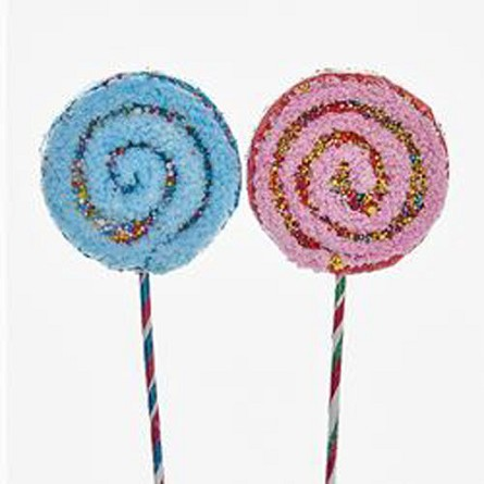"21"" Lollipop Candy Pick - Blue or Pink"