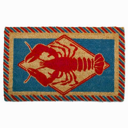 Coconut Fiber Red Lobster Welcome Mat