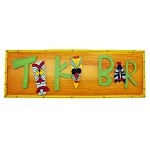 Colorful Painted Wood Tiki Bar Sign
