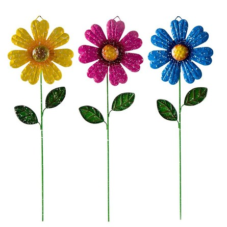 "15"" Bouncy Posy Plant Pick (1) - 3 colors"