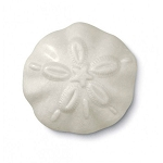 White Sand Dollar Shaped Soap