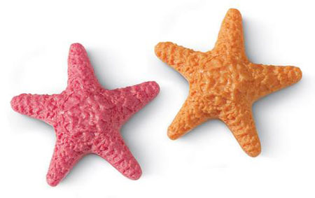 Orange Or Pink Starfish Soap Sculpted Molded Shaped