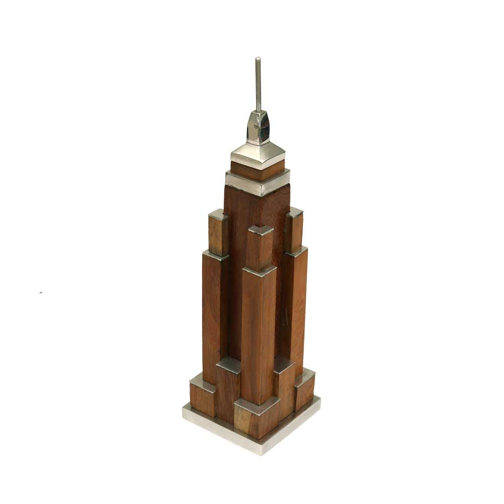 Mini Wood Empire State Building World Travel Themed Party Decorations