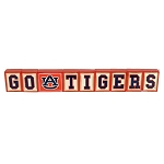 Auburn University GO TIGERS Wood Letter Blocks